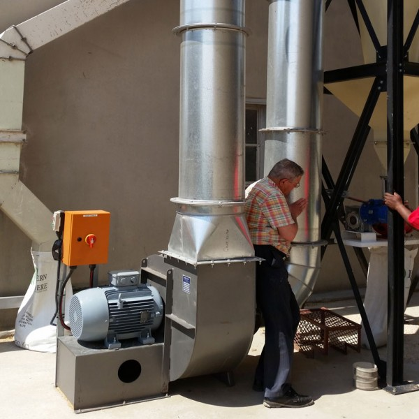 Installation-3-centrifugal-fan-Scrubbers,-pollution-control,-chemical-processing